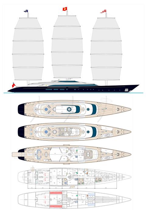 The New 110m 335ft Maltese Falcon Yacht Design Concept