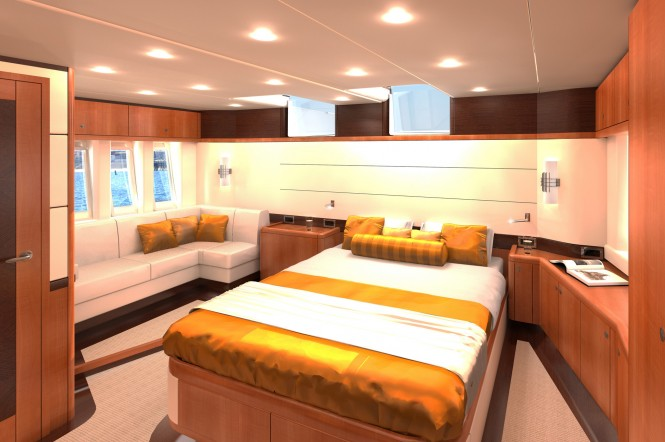 Oyster 885 Cabin - Photo Credit Oyster Marine