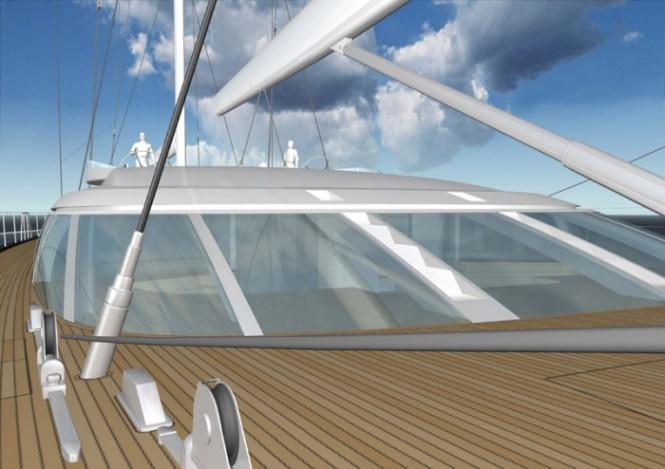 Sailing Yacht Vertigo - Foredeck and Flybridge View