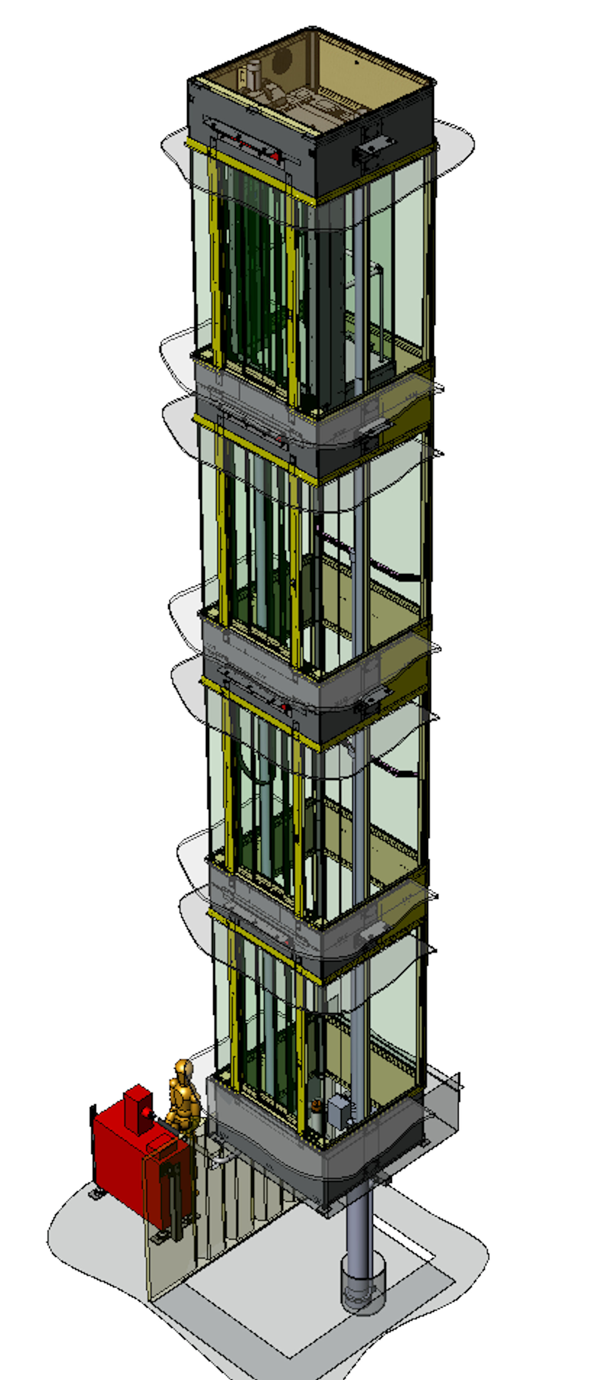 Final Design Of The Glass Elevator From Lift Emotion For
