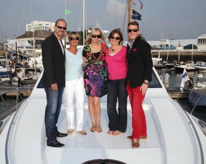 Platinum Ticket guest enjoy life onboard a Princess Motor Yacht at the PSP Southampton Boat Show Photo Credit onEdition