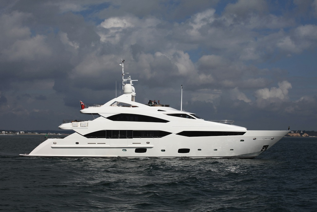 Sunseeker 40m SuperYacht on the way up to the Southampton Boat Show- Image credit to Sunseeker Yachts
