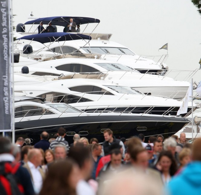 Sunseekers at the PSP Southampton Boat Show. Photo Credit onEdition