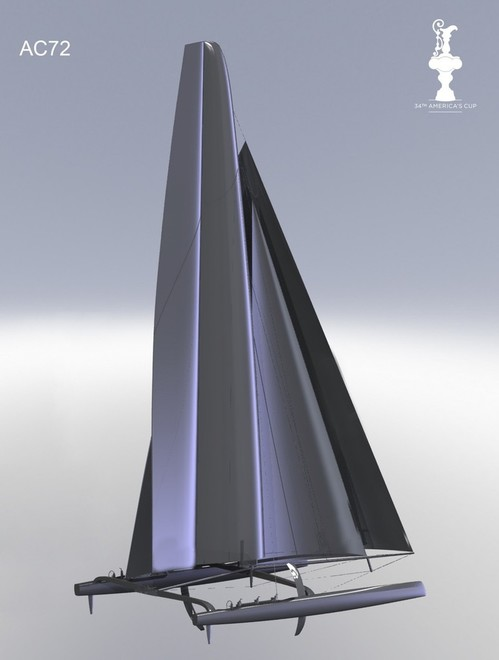 The new AC72 catamaran which will be used in the 34th America's Cup. Credit - 34th America's Cup