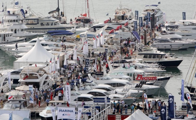 View of the Marina at the PSP Southampton Boat Show Photo Credit onEdition