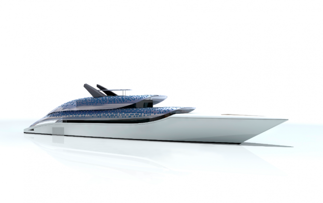 Feadship Breathe Superyacht Concept - The exterior profile of Breathe radiates a sense of peace and dispenses with all unnecessary design elements