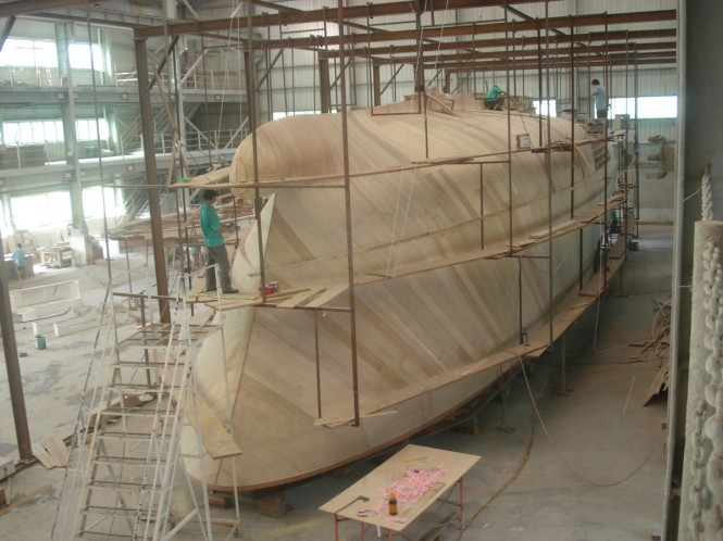 "The first of the Selene 92 ""Ocean Explorer ""Series is now under construction and work is well underway on her hull plug and tooling."