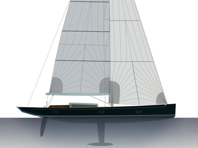 Frers 88 sailing yacht Tulip.