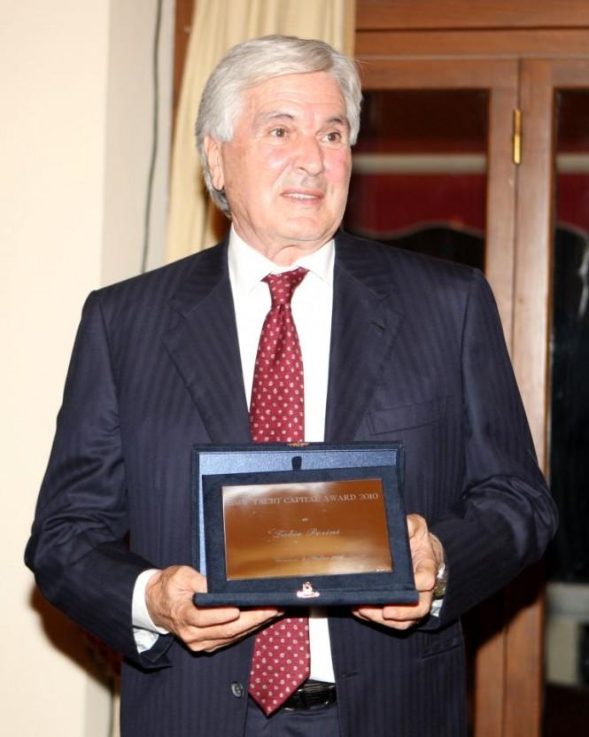 Perini Navi  Group founder Cavalier Fabio Perini, during the 2010 BMW-Yacht Capital Awards - Credit Perini Navi