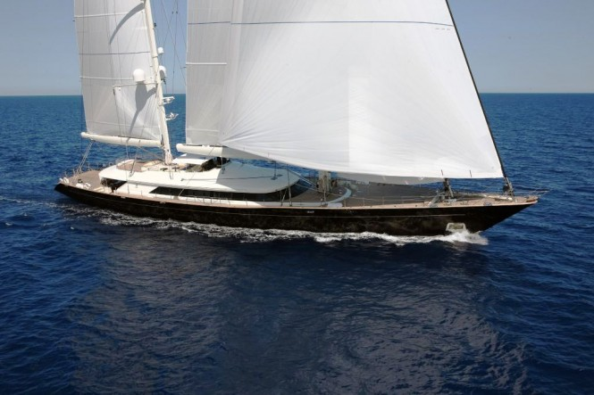 Perini Navi Sailing Yacht Riela Underway