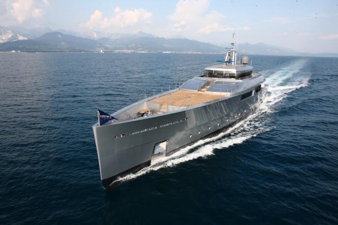 Super Yacht Exuma- photo courtesy of Perini Navi
