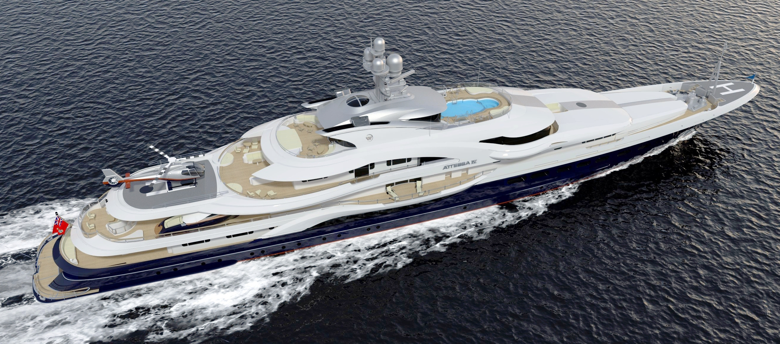 Superyacht Attessa Iv The After Rendering Yacht