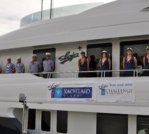 Motor yacht SLOJO YAG Challenge: 2010 Transpacific Triathlon to Benefit YachtAid Global® Completed