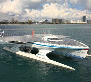 MS TÛRANOR PLANETSOLAR arrives in Cancún for the World Climate Change Conference