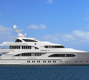 """Motor yacht D190 - """"3 TIMES A LADY"""" Diana Yacht Design Series"""