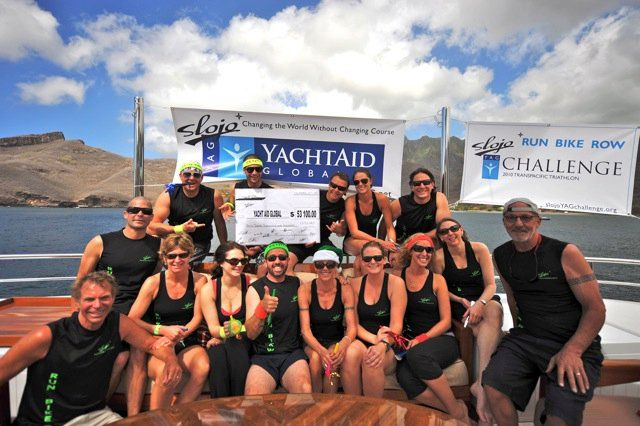 Motor yacht SLOJO YAG Challenge 2010 Transpacific Triathlon to Benefit YachtAid Global® Completed