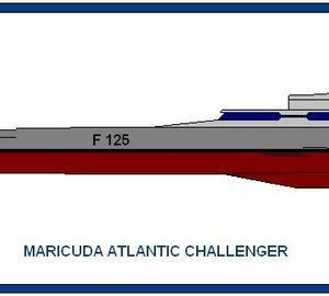 The 80 metre (220 ft) Maricuda Global Atlantic Challenger Trimaran