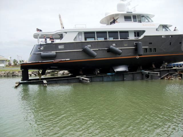 Motor yacht Black Pearl by Diverse Projects being launched