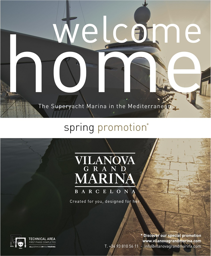 Vilanova Grand Marina – Barcelona launches its Spring promotion and offers free berthing days