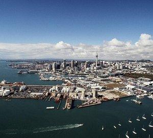 New Zealand's new Wynyard Quarter superyacht Marina full