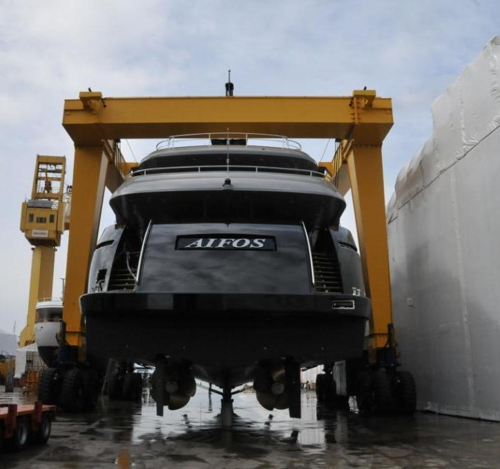 CBI 50 Yacht Aifos launched by Cbi Navi