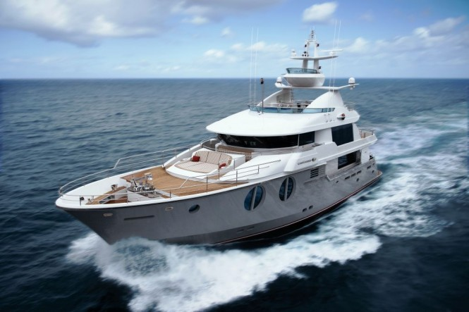 Horizon EP105 Motor Yacht Cruising – A Long Range Explorer