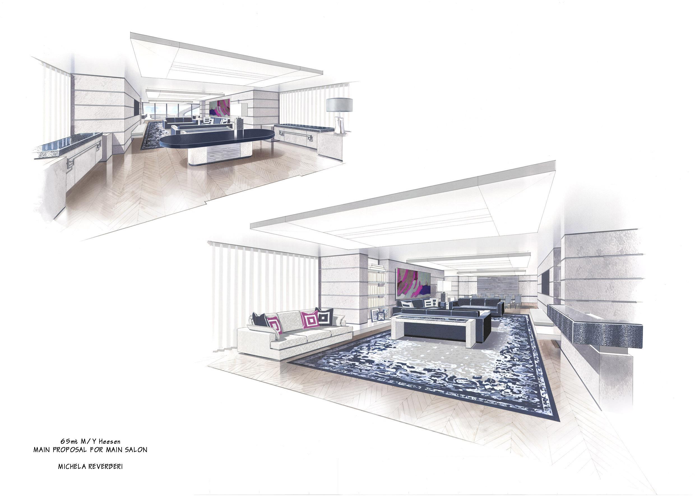 Interior Designer For The Michela Reverberi Designed Motor Yacht Quinta