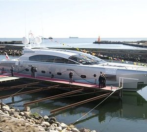 Motor yacht Shooting Star launched - A 38 m AeroCruiser by Danish Yachts