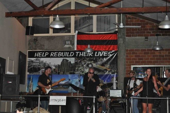 Stingray in full song at the Superyacht Support Christchurch Earthquake Appeal fundraiser - Credit Ellie Brade