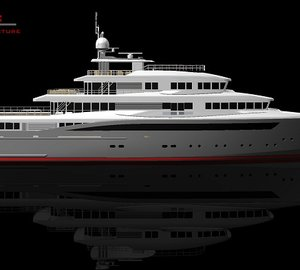 'HydroTec Global Explorer' motor yacht in build at Palumbo Shipyard - A superyacht design by Hydro Tec