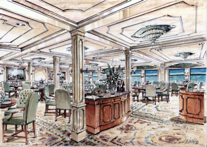American Cruise Lines Queen of the Mississippi Dining Room