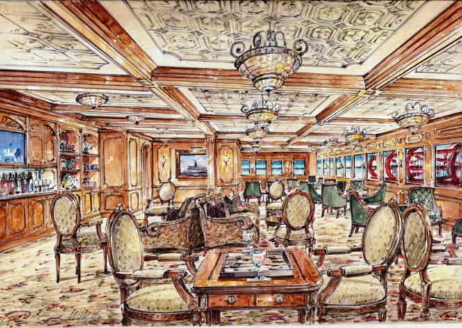 American Cruise Lines Queen of the Mississippi Paddlewheel Lounge