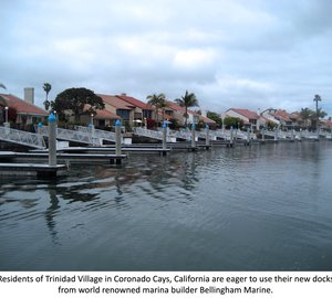 Bellingham Marine completes construction of private docks at Trinidad Village, Southern California