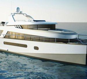 The new 58' trawler catamaran design by Stirling Design International and Alu Marine shipyard