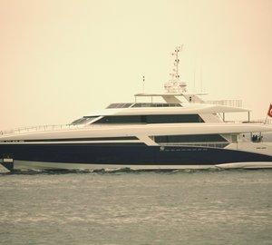 Bilgin 145 Yacht Tatiana undergoes her first sea trial