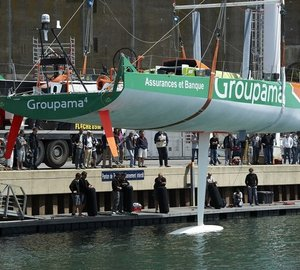 Sailing Yacht Groupama 4 launched – The first Volvo 70 built in France
