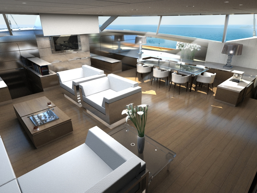 Blue Coast 88 catamaran - interior — Yacht Charter & Superyacht News