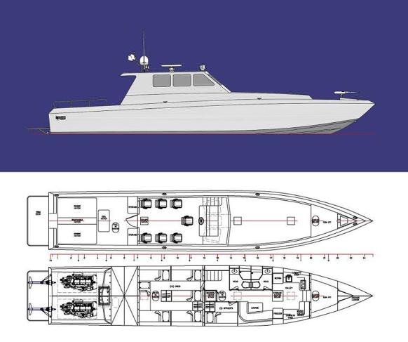 Hann Powerboats 20m fast patrol craft designed by Boksa Marine Design — Yacht Charter ...