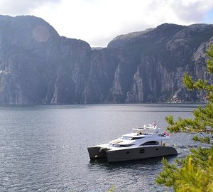 Maiden Voyage in the Norwegian Fjords for Charter yacht DAMRAK II – A 70 SUNREEF POWER