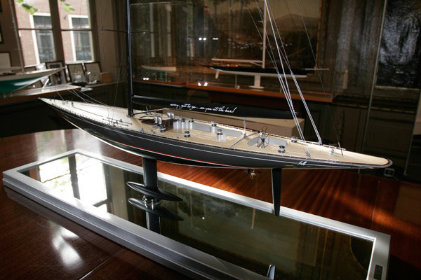 Model of the 115 classic race yacht FIREFLY — Yacht Charter