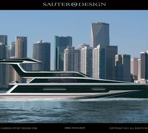 Net Zero 22m Emax Excalibur motor yacht by Sauter Carbon Offset Design and the Ned Ship Group