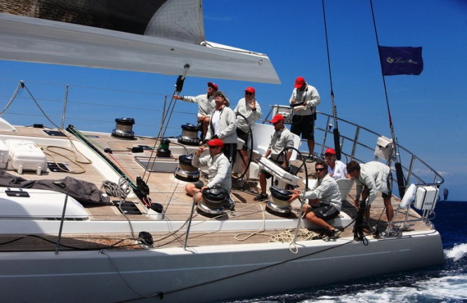 SW 100 DS sailing yacht I-Sea at The 2011 Loro Piana Superyacht Regatta