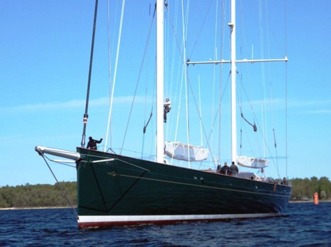 67m Sailing Yacht Hetairos Ex Project Panamax Launched