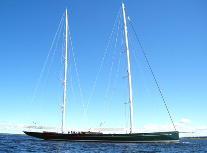 67m Sailing yacht Hetairos ( ex project Panamax ) launched by Baltic Yachts  - Credit Baltic Yachts