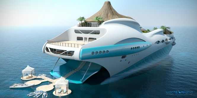 90m Tropical Island Paradise superyacht design by Yacht Island Design