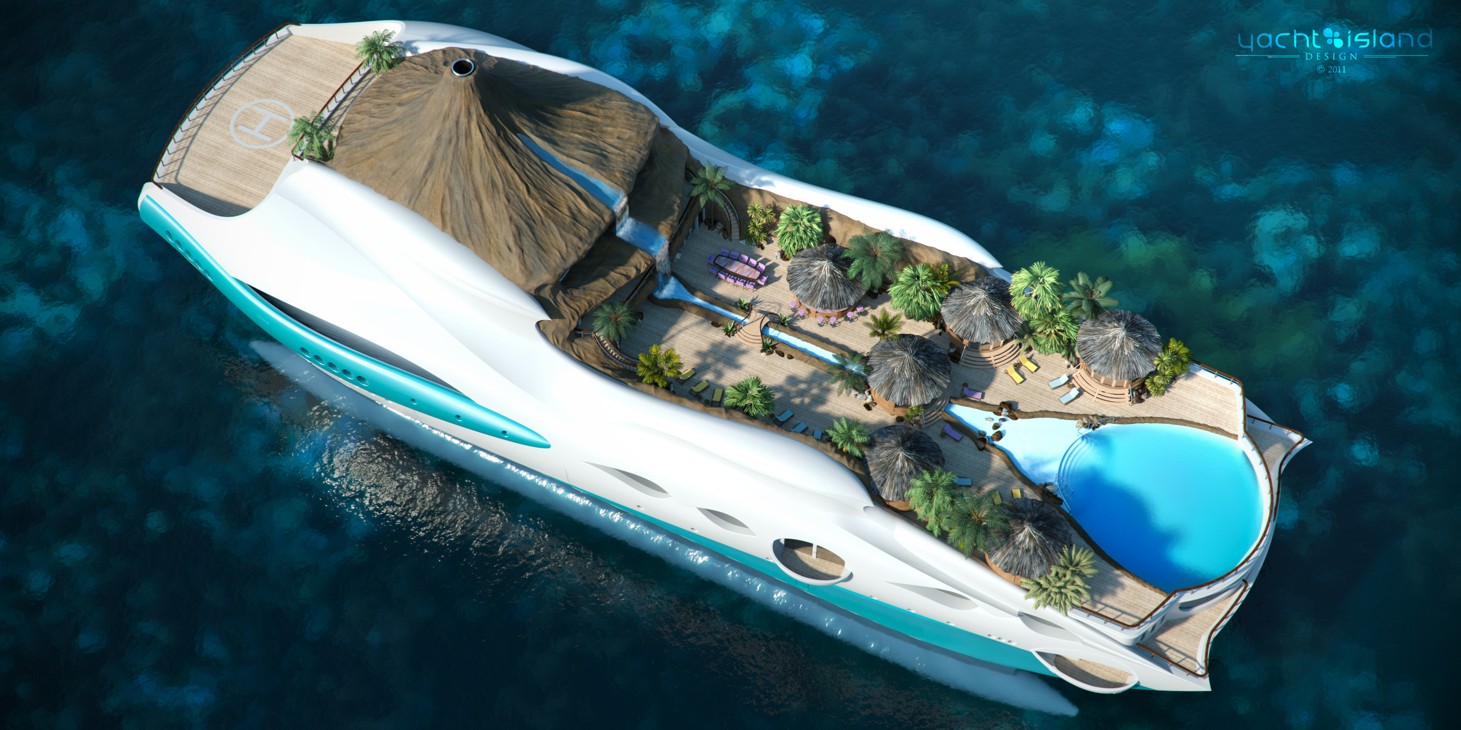 90m 'Tropical Island Paradise' superyacht by Yacht Island Design