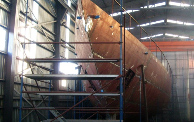Ada Yacht Works building 47m Sailing Yacht designed by Gerard Dykstra & Partners