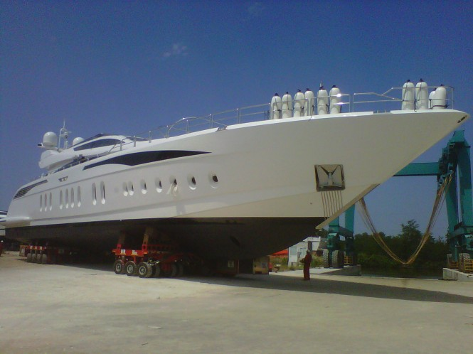 Leopard 46 m motor yacht TUTTO LE MARRANE at her launch