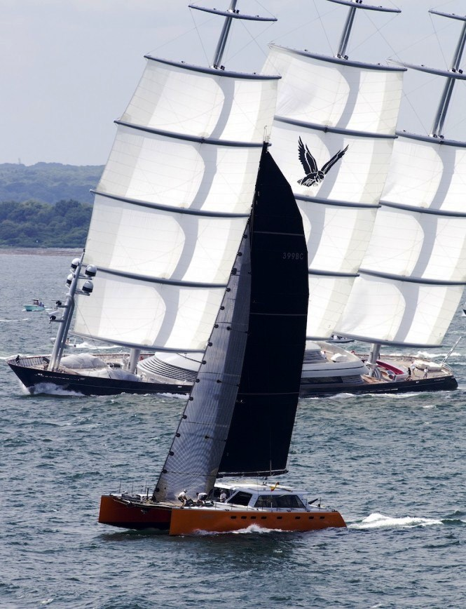 Phaedo and Maltese Falcon at the Transatlantic yacht race 2011 - Richard Langdon