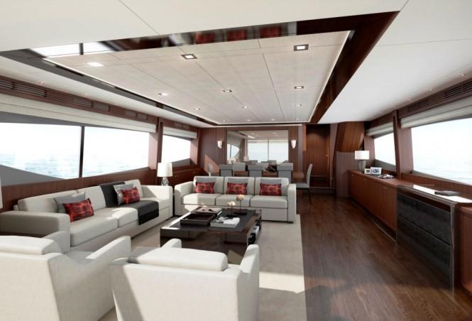 Princess 98 Motor Yacht Saloon